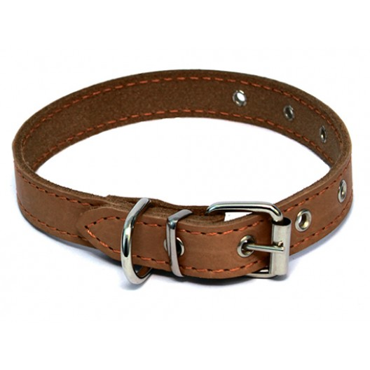 Купить Ошейник кожаный щенячий 35 мм, 36-64 см