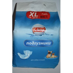 Подгузники cliny XL 15-30 кг (7шт./уп)