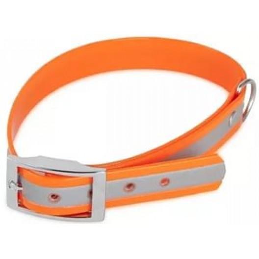 Купить Ошейник из биотана 15 мм, 21-30 см, оранжевый