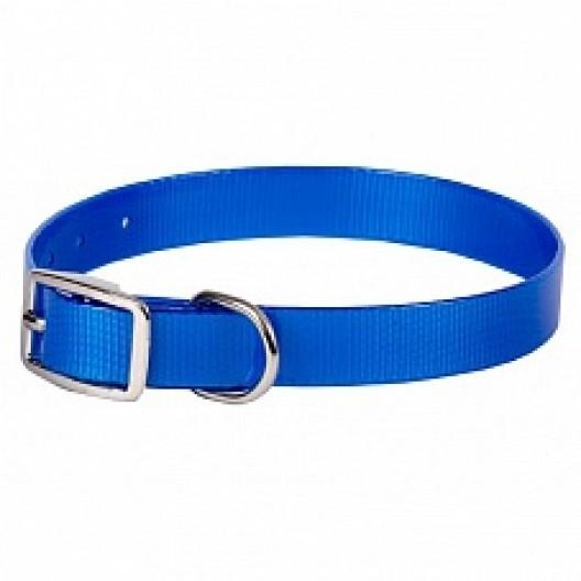 Купить Ошейник из биотана 25 мм, 44-56,5 см, синий