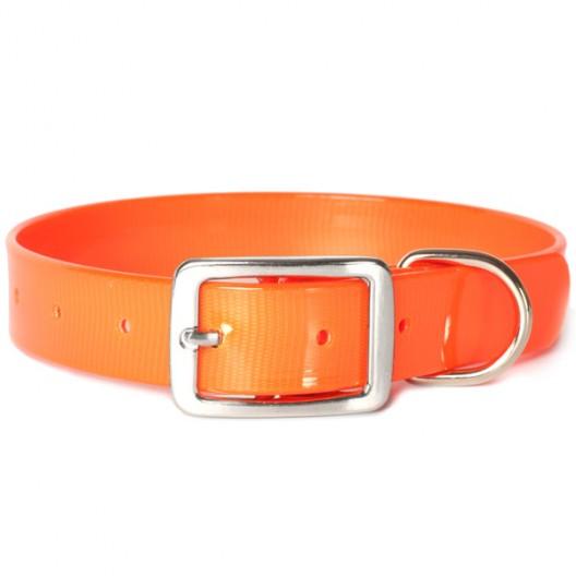 Купить Ошейник из биотана 20мм, 25-35 см, оранжевый
