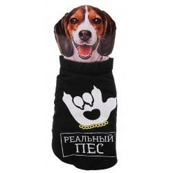 Жилет утепленный Реальный пес шея 36 см, грудь 48 см, длина по спине 44 см