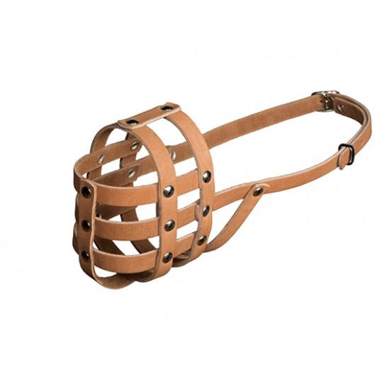 Купить Намордник кожаный №1 (миттельшнауцер)