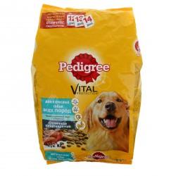 Сухой корм Pedigree для взрослых собак всех пород, говядина 2,2 кг