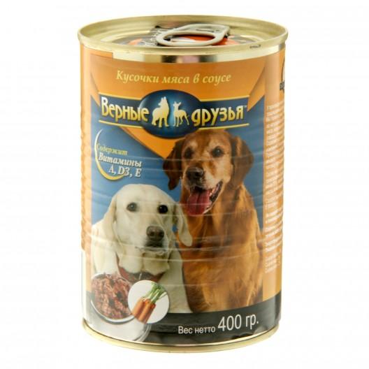 Купить Влажный корм  Верные друзья для собак 400 гр