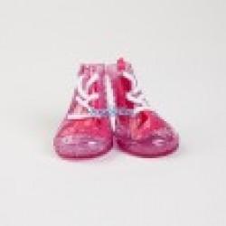 Обувь для собак замша пурпур. размер№1 (4 шт)