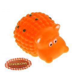 Игрушка резиновая пищащая Бегемотик