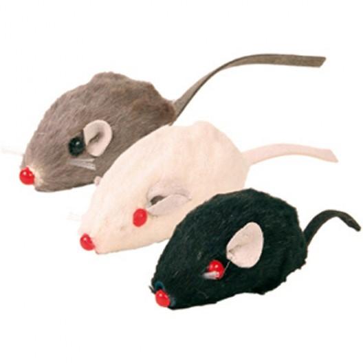 Купить Мышь заводная 7 см черная