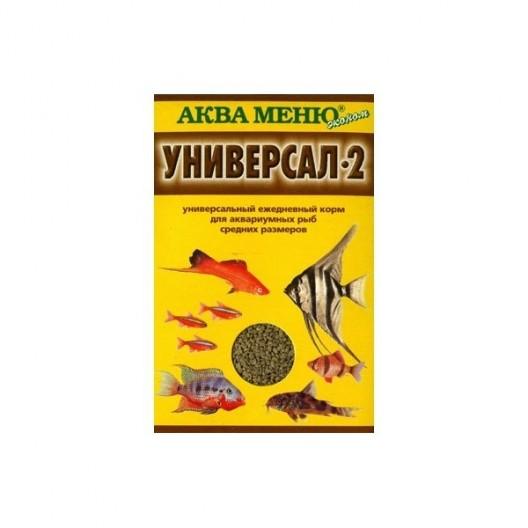 Купить Универсальный корм для аквариумных рыб средних размеров Аква меню