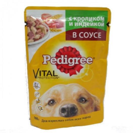 Купить Pedigree с кроликом и индейкой для взрослых собак всех пород