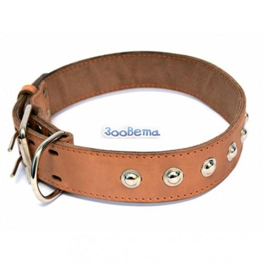 Купить Ошейник кожаный 20 мм, обх шеи 32-40 см