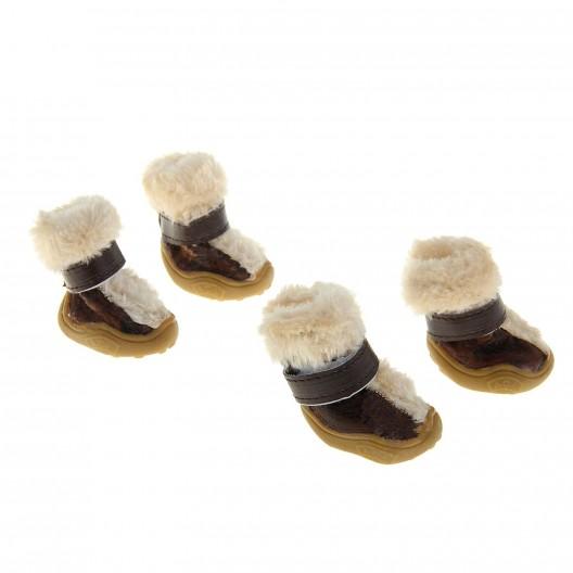 Купить Ботинки с мехом, подкладка из флиса, размер 3 (подошва 5,5*4,5 см)