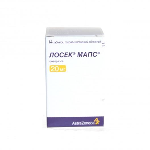 Купить Лосек мапс 20 мг