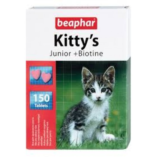 Купить Beaphar kittys junior биотин 150 таб.