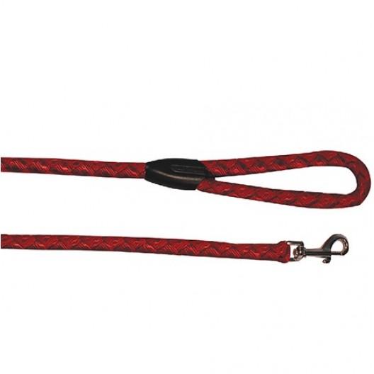 Купить Поводок нейлон плетеный 10 мм*100 см, красный, синий