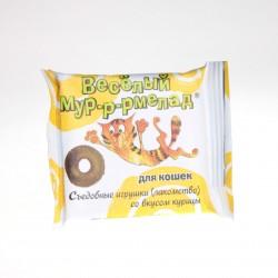 Весёлый мур-р-рмелад лакомство для кошек со вкусом курицы 6 гр