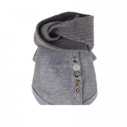 """Свитер """"С шарфом"""" серый 40 см"""