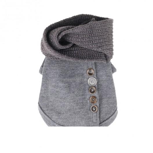 Купить Свитер С шарфом серый 40 см