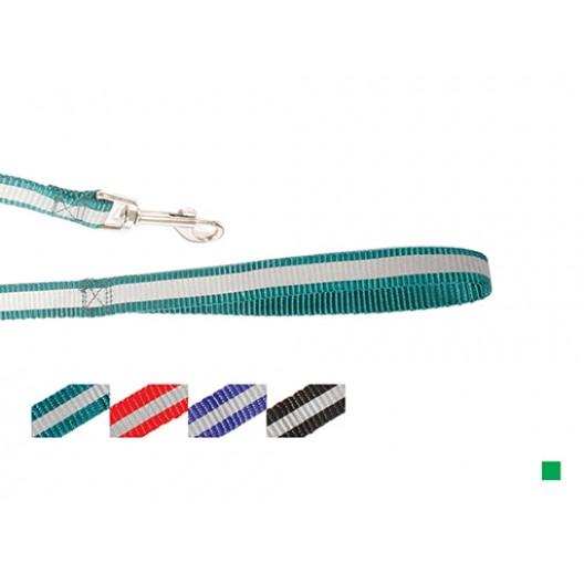 Купить Поводок нейлон светоотражающий 10 мм*120 см, зеленый