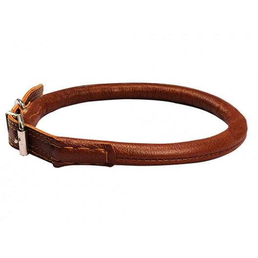 Купить Ошейник кожаный Элита круглый шов наружу 55-63 см, 1.4 см