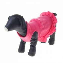 Платье флисовое S, розовое