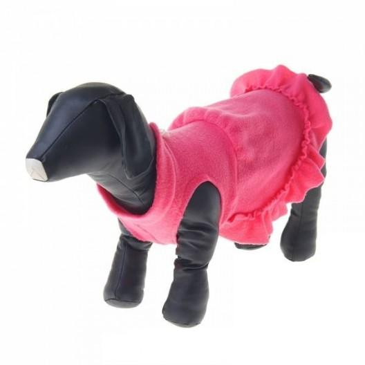 Купить Платье флисовое S, розовое