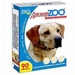 Доктор ZOO д/собак здоровье кожи и шерсти таб.№90