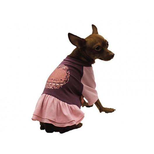Купить Платье с юбкой Pink фиолетовое 35 см
