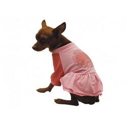 Платье с юбкой Pink розовое 35 см