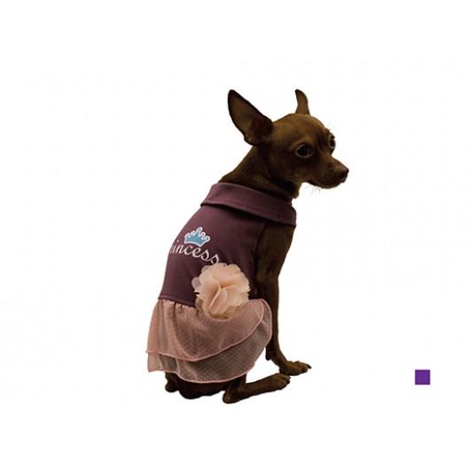 Купить Сарафан с юбкой Princess с цветком фиолетовый 25 см