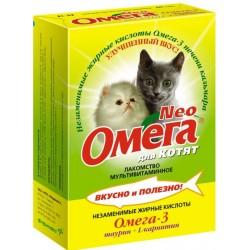 Омега NEO д/кошек с протеином и L - карнитином таб.№90