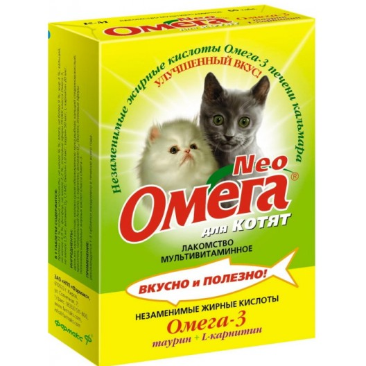 Купить Омега NEO для кошек с протеином и L - карнитином таб.№90