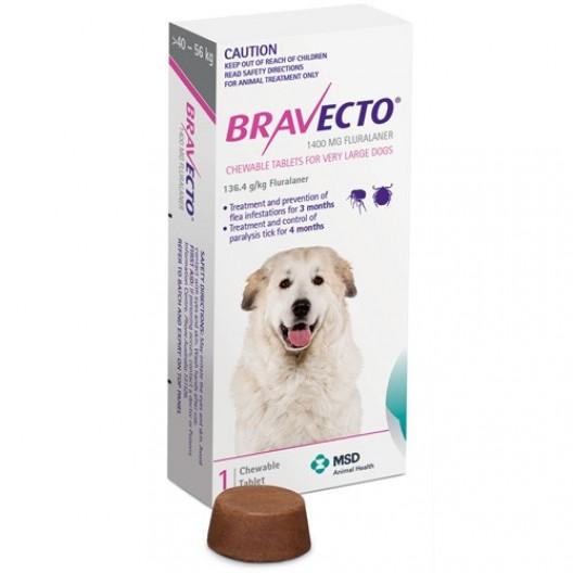 Купить Бравекто 1400 мг 1 таб.40-56 кг
