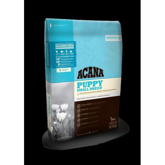 Купить Акана Херидейдж паппи смол брид сухой беззерновой корм для щенков мелких пород 340 гр