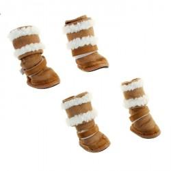 "Ботинки ""Унты"" 4 шт. размер 2  подошва 5*3,8 см"