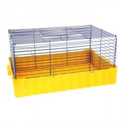 Клетка для кроликов №4, 75х46х, 40 см, микс цветов