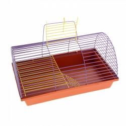 Клетка для грызунов полукруглая с метал.полкой и лесенкой, 36*24*22 см