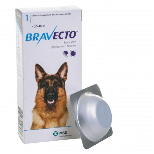 Купить Бравекто 1000 мг 1 таб. 20-40 кг