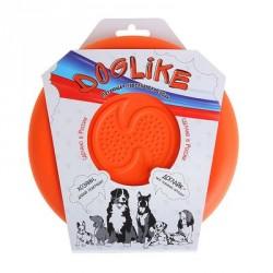 "Летающая тарелка-фрисби ""ДогЛайк"" 18*2,3 см, оранжевая"