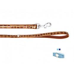 Поводок Колибри с украшением лапка металл. 15 мм*120 см голубой