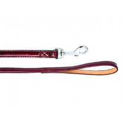 Поводок Колибри лаковый 15 мм*120 см, бордо, вишневый