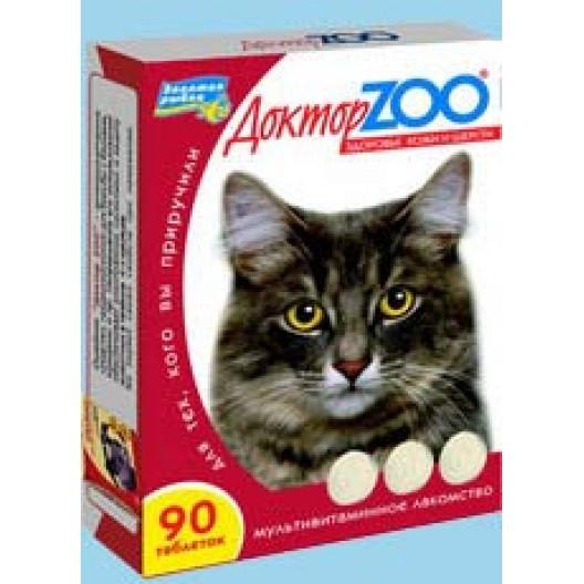 Купить Доктор Zoo для кошек Мультивитаминное лакомство, здоровье кожи и шерсти.