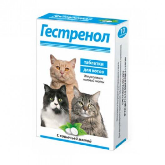 Купить Гестренол таблетки для регуляции половой охоты у котов