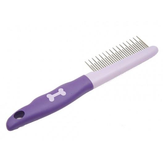 Купить Расческа пластик мягкая ручка разный зуб блистер