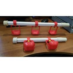 Система нипельного поения 30 см 2 нипеля
