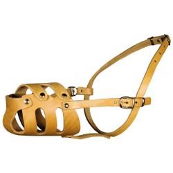 Намордник кожаный цельнокроенный ротвейлер