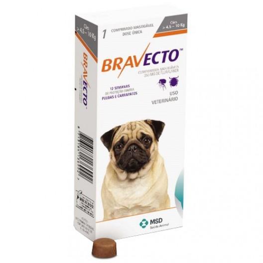 Купить Бравекто 250 мг 1 таб. 4,5 - 10 кг