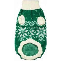 """Свитер """"Снежинка"""" серо-зеленый, 25 см"""