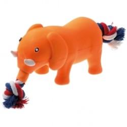 Игрушка латекс Слон с канатом, 14 см