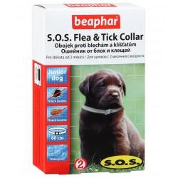 Беафар Ошейник SOS для щенков от блох, клещей 60 см
